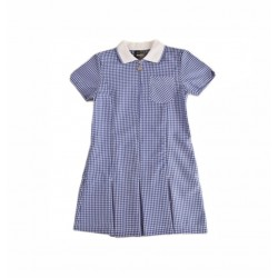 Gingham summer dress with Alice Band & Scrunchie